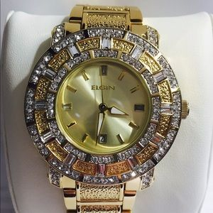 Brand New Elgin Stainless Steel Gold Tone Watch